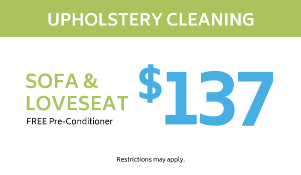 $137 upholstery cleaning coupon